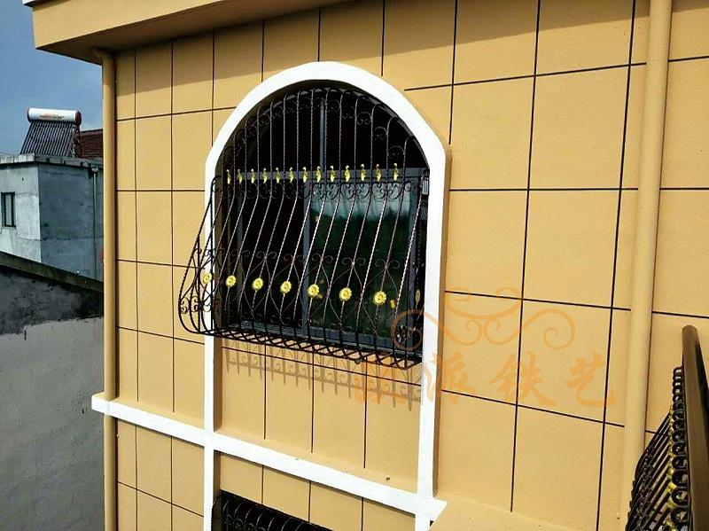 铁艺护窗(弯弧伸出款2)