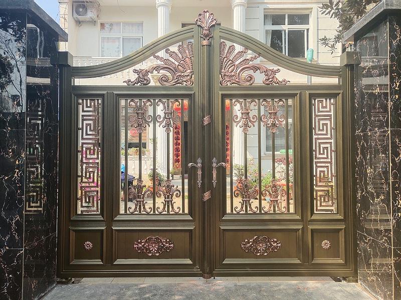 铝艺庭院门有哪些安装步骤?