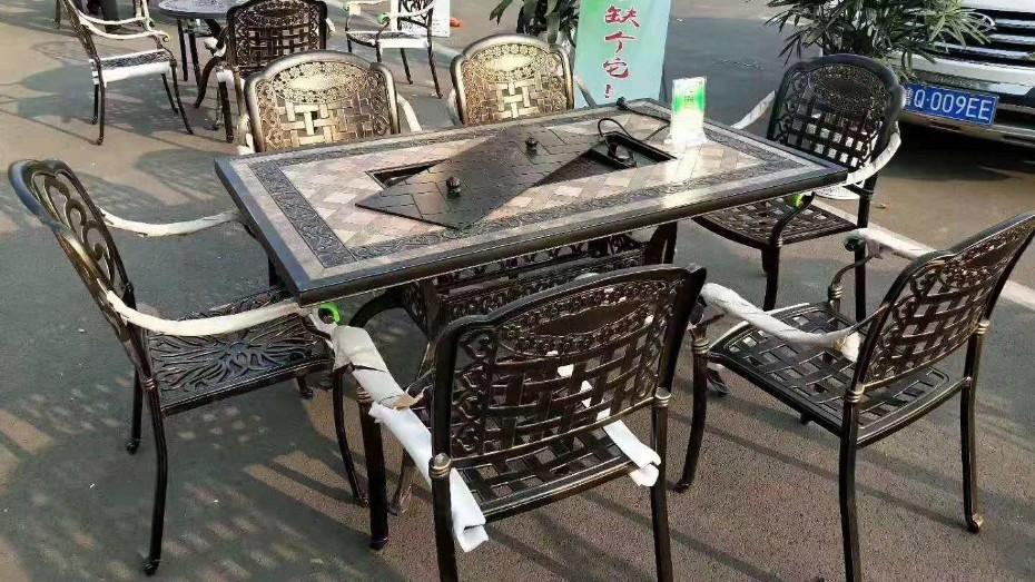 铸铝桌椅005