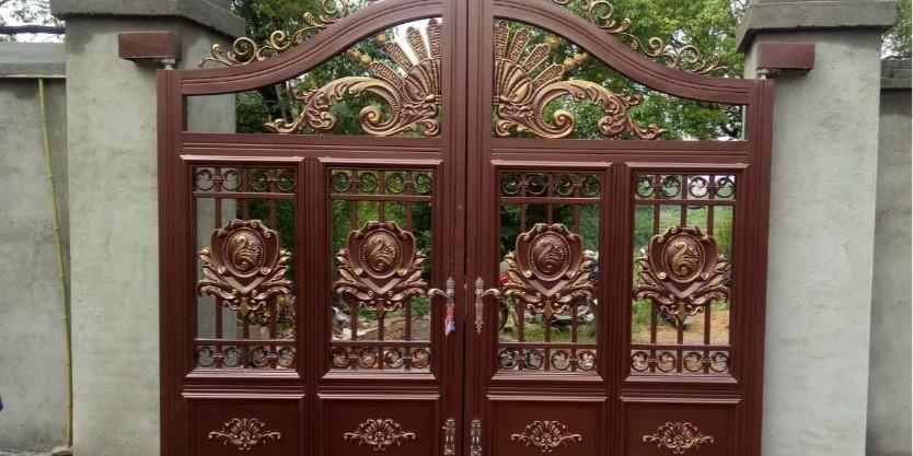 铝艺庭院大门焊接方法