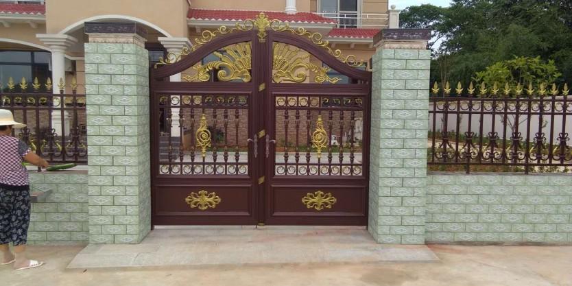 铝艺庭院门的构造