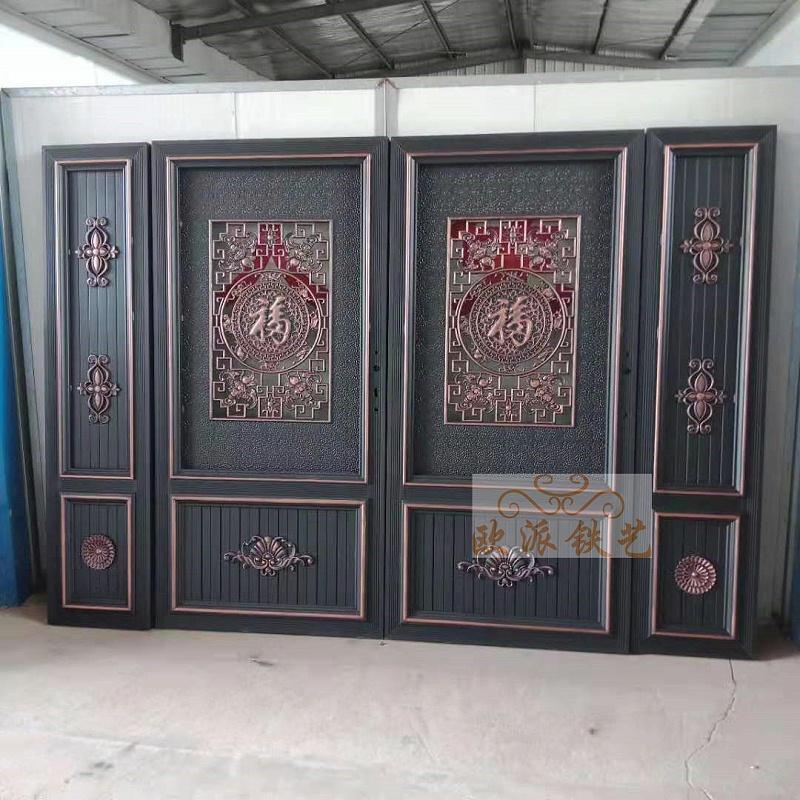 中式复古铝艺大门