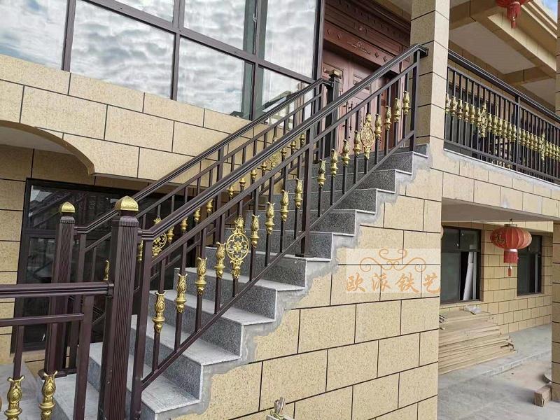 铝艺楼梯扶手定制案例