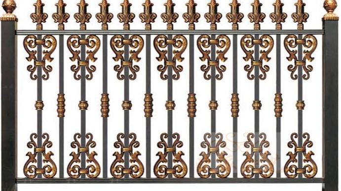 锌钢烤漆围栏8020