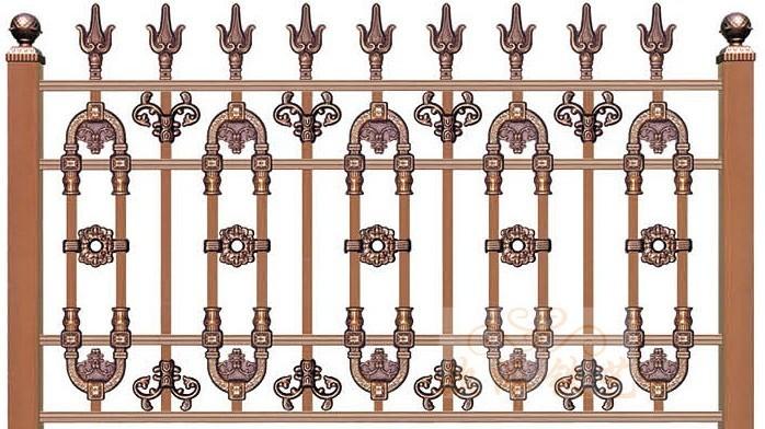 锌钢烤漆围栏8022