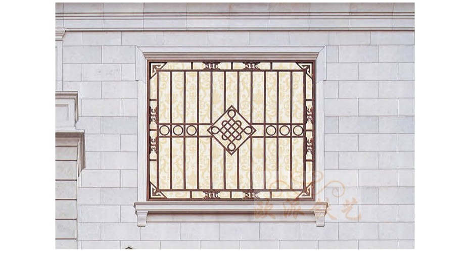 铝艺防护窗8054