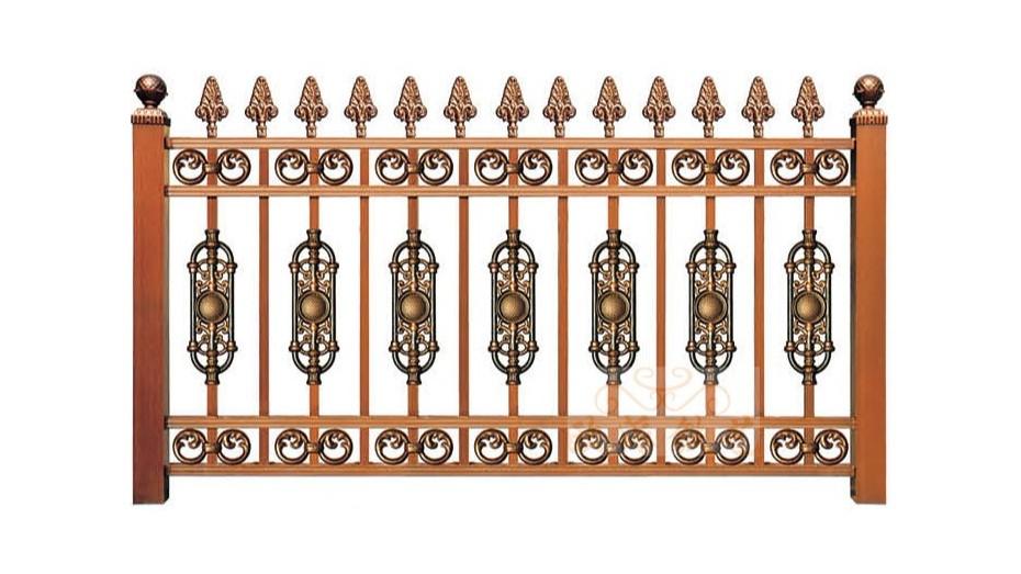 锌钢烤漆围栏8016