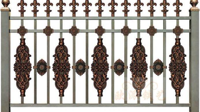 锌钢烤漆围栏8017